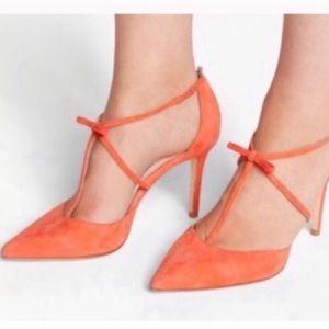 New Boden Jennifer melon coral t-bar heels 39 8.5